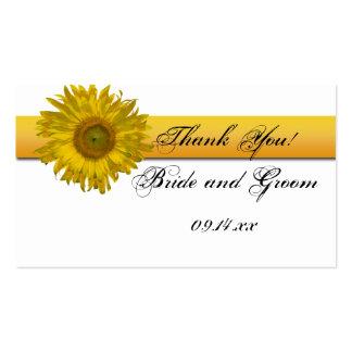 Sunflower Stripe Wedding Favor Tags Pack Of Standard Business Cards