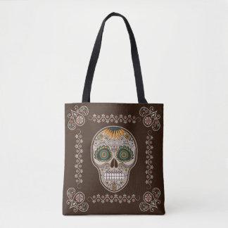 Sunflower Sugar Skull Dia de los Muertos Tote