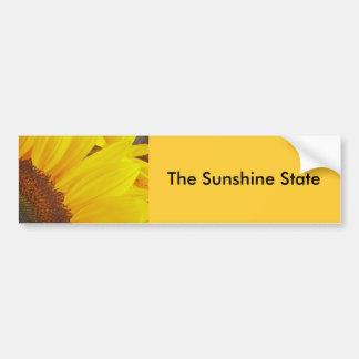 Sunflower Sun Sticker Bumper Sticker