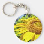 SUNFLOWER SunFlowers Sun Flowers Cards Gifts Mugs Basic Round Button Key Ring