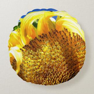 Sunflower Sunrise Round Pillow