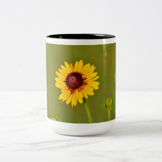 Sunflower sunrise Two-Tone coffee mug