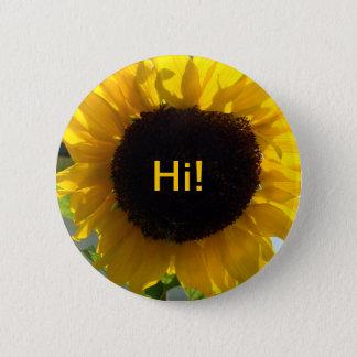 Sunflower Sunshine 6 Cm Round Badge
