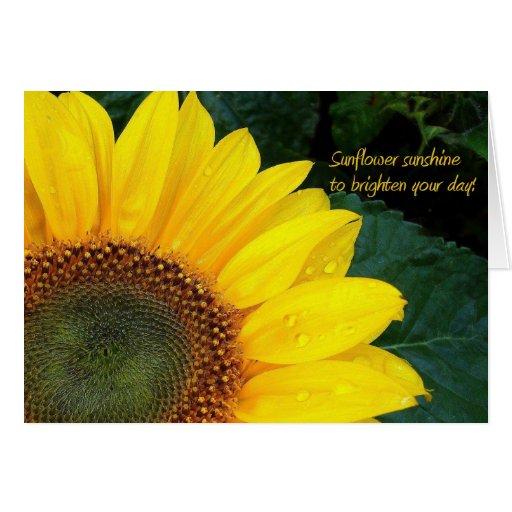 Sunflower sunshine!  ~ Card