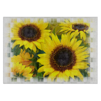 Sunflower sunshine cutting board