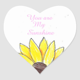 Sunflower sunshine heart sticker