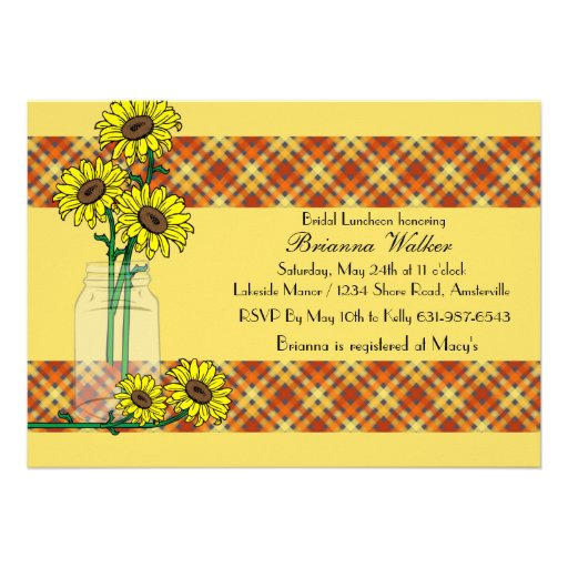Sunflower Sunshine Invitation