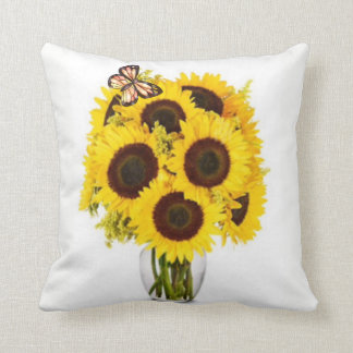 Sunflower Surprise Throw Pillow