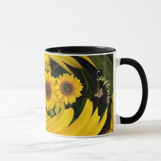 Sunflower  swirl mug