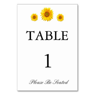 Sunflower Table Card