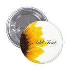 Sunflower template 3 cm round badge