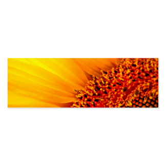 Sunflower Thank You Bookmark & Emerson Quote Pack Of Skinny Business Cards