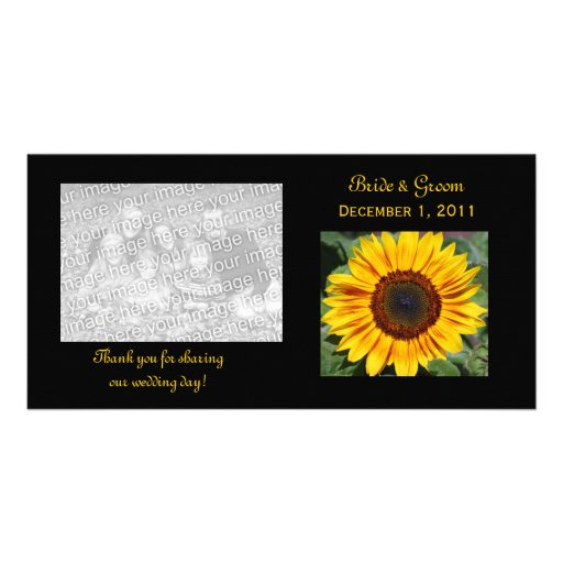 Sunflower Thank You Photo Cards
