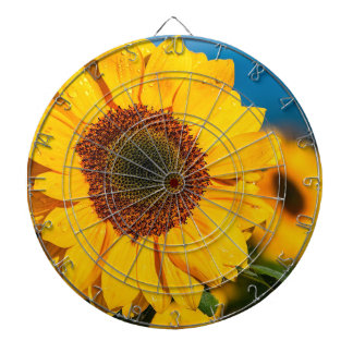 Sunflower The Morning Flower Garden Sunny The Sun Dartboard