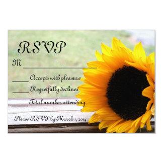 Sunflower theme 9 cm x 13 cm invitation card