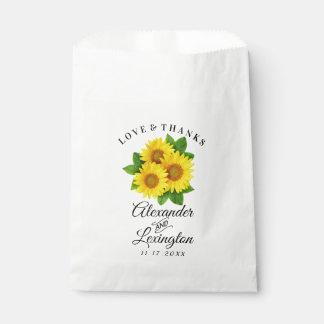 Sunflower Themed Wedding Favor Bag | Sunflowers