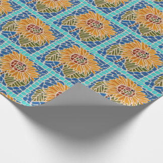 Sunflower Tile Mosaic Gift Wrap