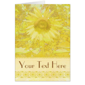 Sunflower To Customize! Card