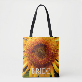Sunflower tote for the Bride