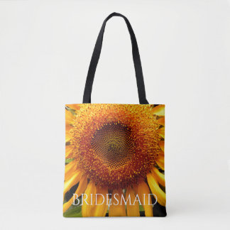 Sunflower tote for the Bridesmaid