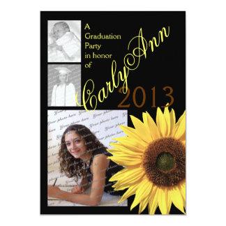 Sunflower Tri Photo 13 Cm X 18 Cm Invitation Card