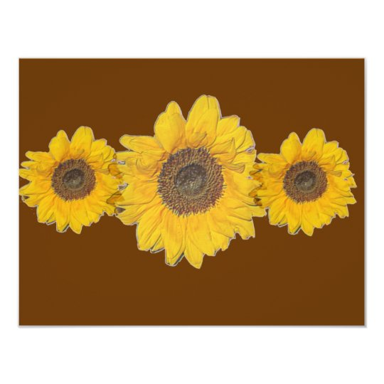 sunflower trio card