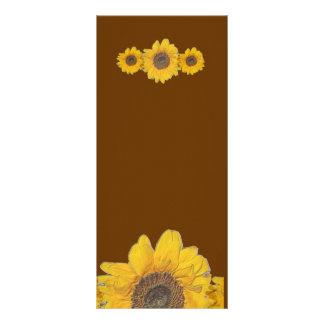 sunflower trio rack card