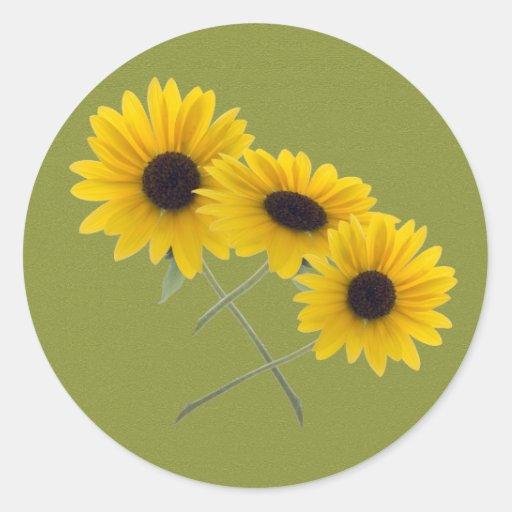 Sunflower Trio Sticker