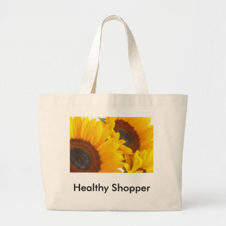 Sunflower Triplettes Large Tote Bag