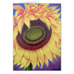 Sunflower Tropical Floral Art Painting - Multi Greeting Card