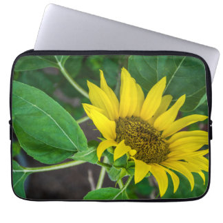 Sunflower up close laptop sleeve