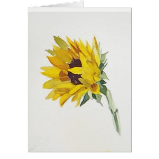 Sunflower watercolor notecard