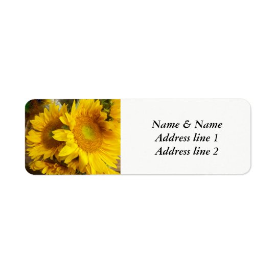 Sunflower wedding address labels