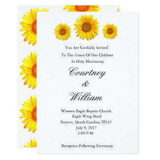 Sunflower Wedding Invitation