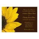 Sunflower Wedding Invitation - Brown and Yellow