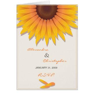 Sunflower Wedding Invitation RSVP Card