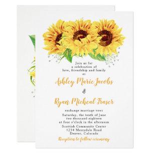 sunflower wedding invitations zazzle co uk