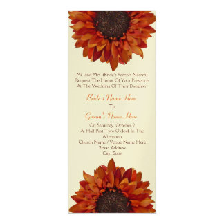 Sunflower Wedding Invite - From Bride's Parents