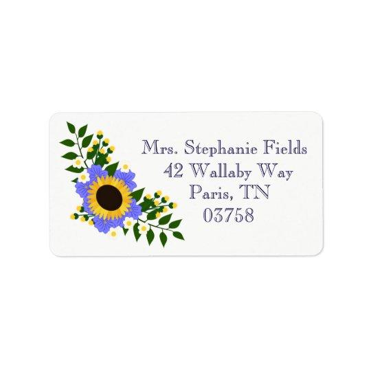 Sunflower Wedding Labels