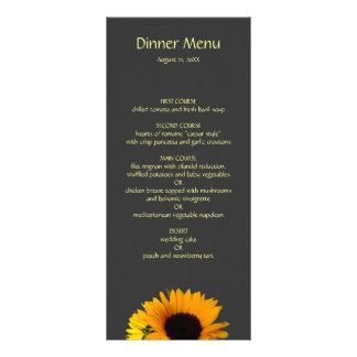 Sunflower Wedding Menu