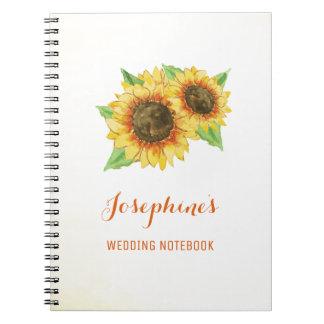 Sunflower Wedding Planning Notebook