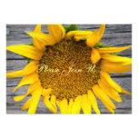 Sunflower Wedding Postwood Grey III Personalised Announcements