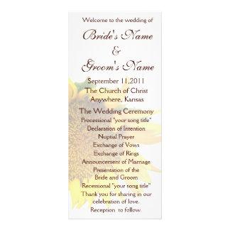 Sunflower Wedding Program 2 Rack Card