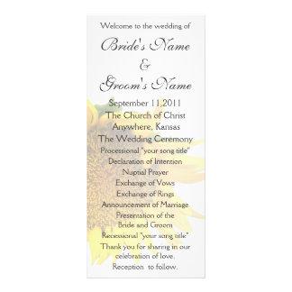 Sunflower Wedding Program 3 Rack Card