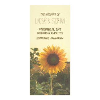 sunflower wedding programs rack card
