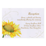 Sunflower Wedding Reception Enclosure (3.5x2.5) Pack Of Chubby Business Cards