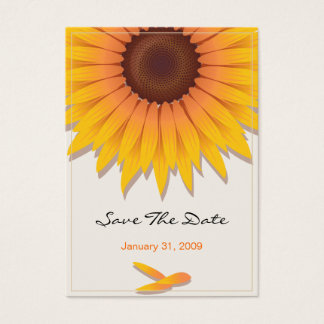 Sunflower Wedding Save The Date MiniCard Business Card