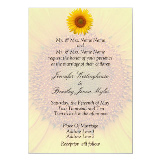 Sunflower Wedding Stationary Floral Spring Summer Card