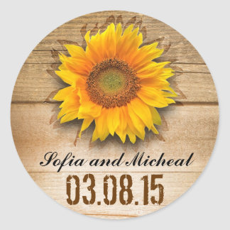 sunflower wedding stickers