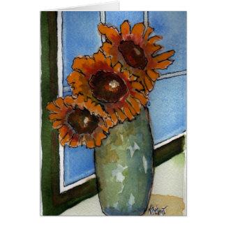 Sunflower Window Greeting Card